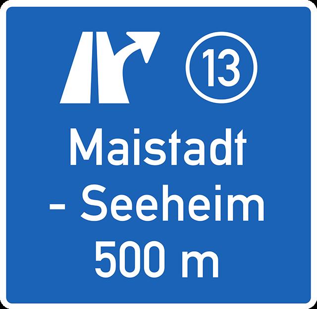 Verkehrszeichen 448